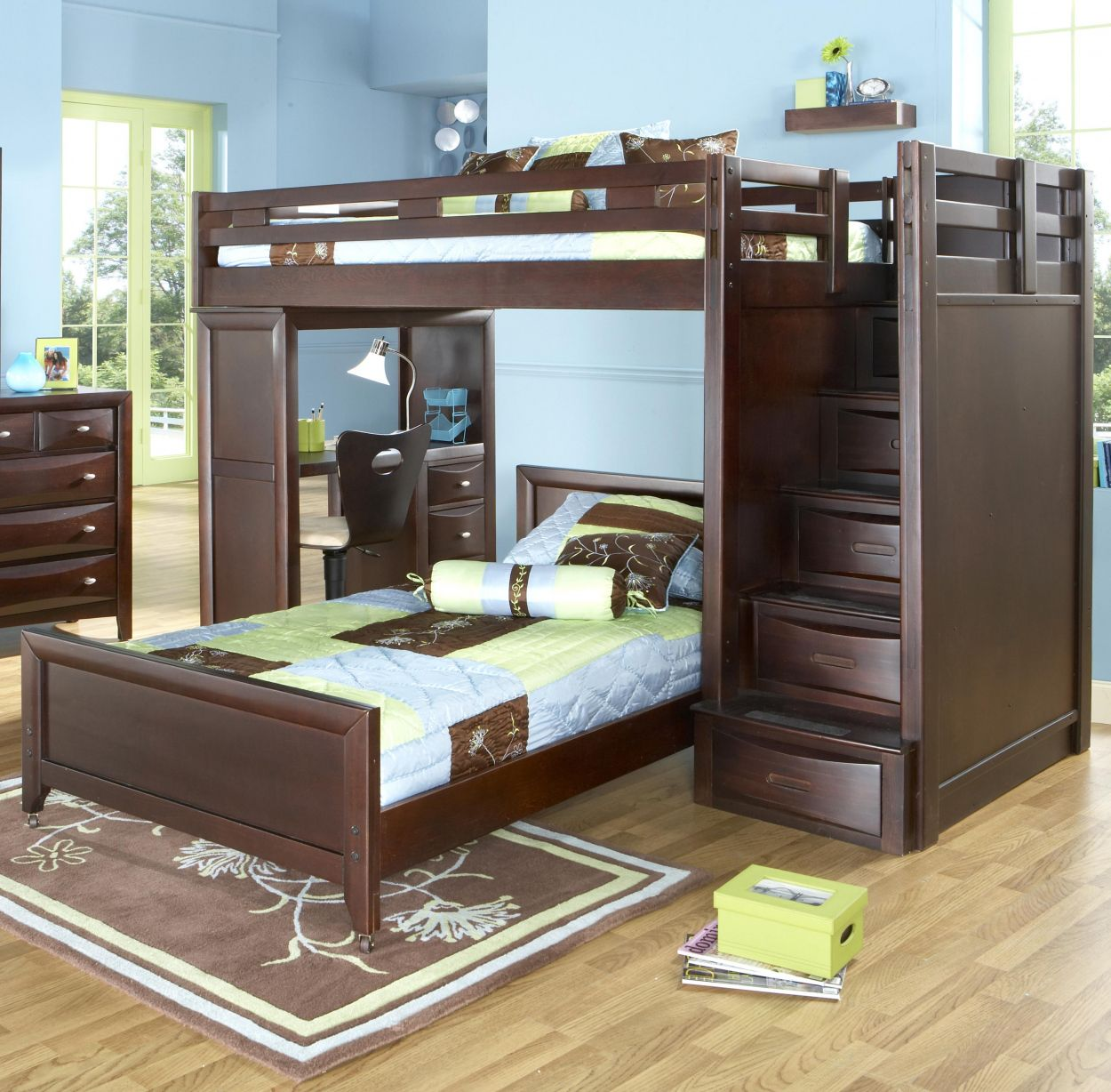Pin Oleh Luciver Sanom Di Young Design Bunk Beds Bunk Bed With