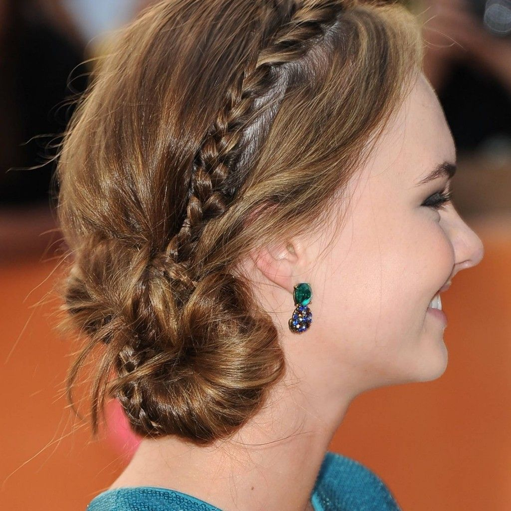Homecoming hairstyles for long thick hair - Homecoming Hairstyles Updos With Braids