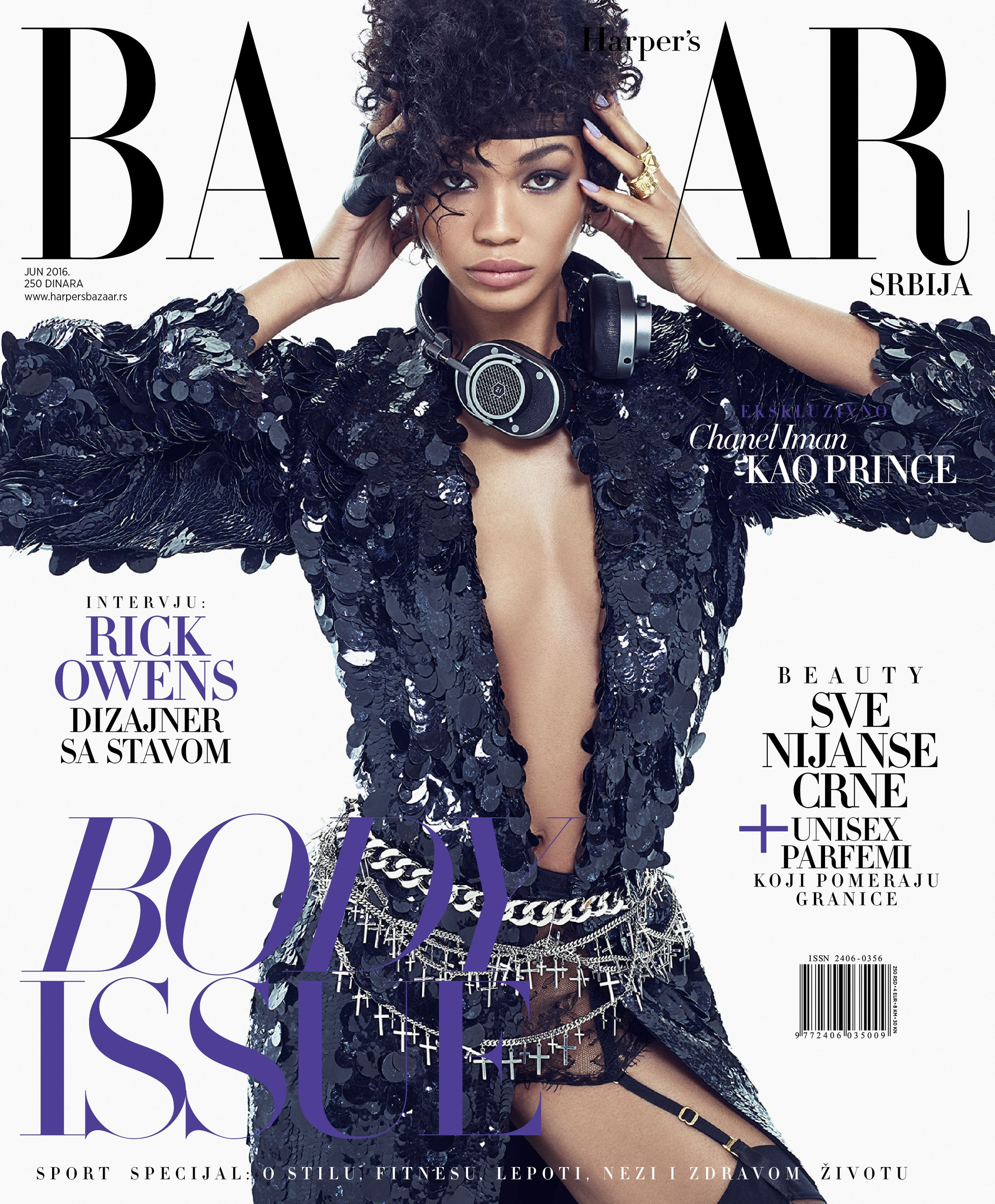 9c8e818fdfb Chanel Iman graces the cover and pages of Harper Bazaar Serbia