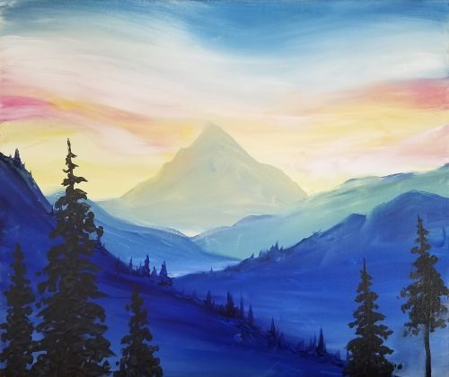 Image Result For Easy Mountain Painting Easy Landscape Paintings Mountain Painting Canvas Mountain Landscape Painting