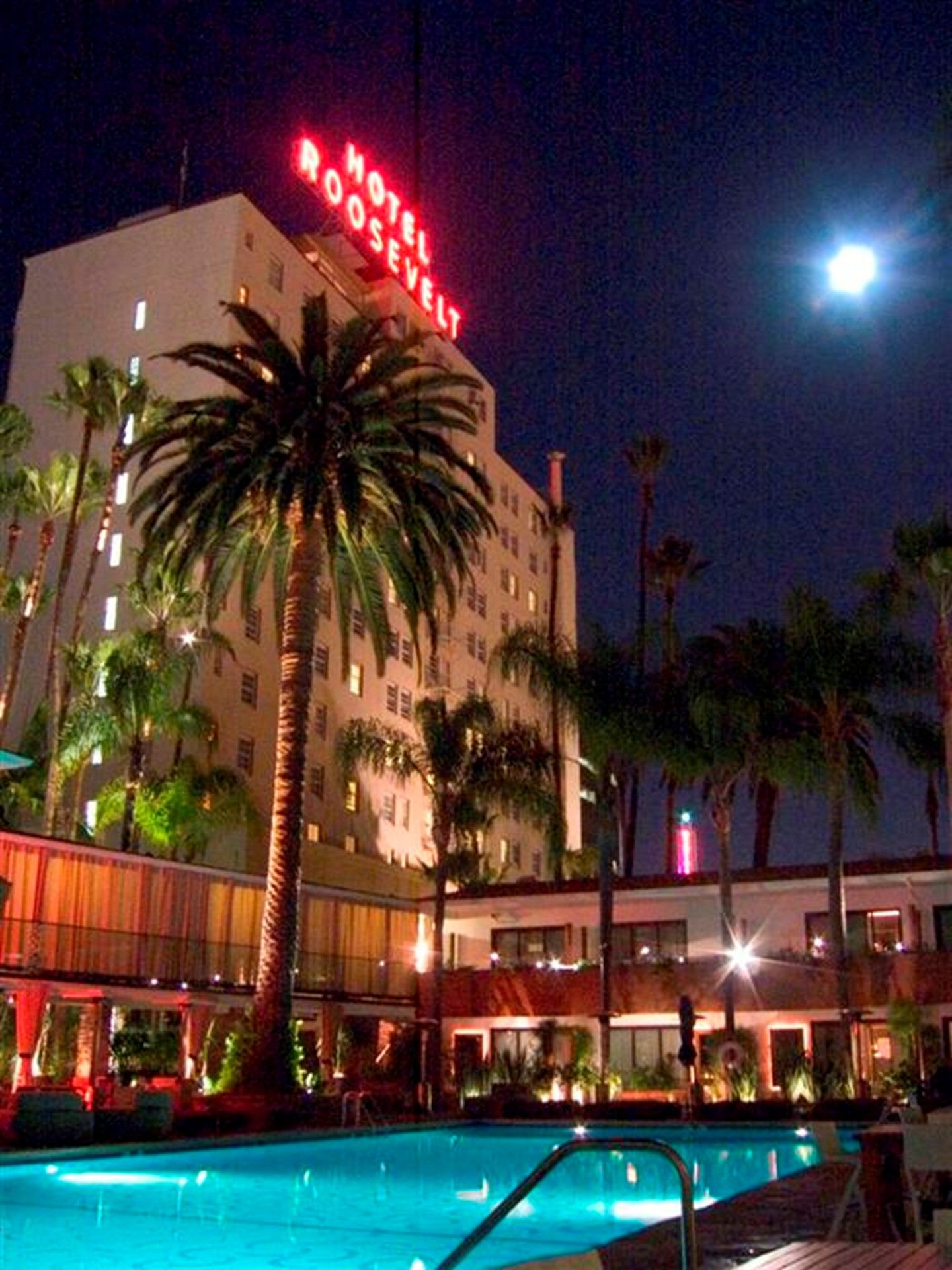 View Of Iconic Neon Tropicana Bar And Pool