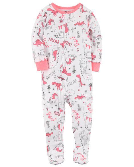 1615aac9f 1-Piece Dinosaur Snug Fit Cotton PJs