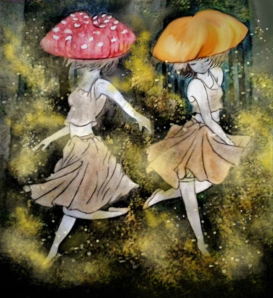 Forest Dance  One of my favorite watercolor/digital drawings.  LIKE ON FACEBOOK @facebook.com/xxiinc  Copyright XXI Inc.