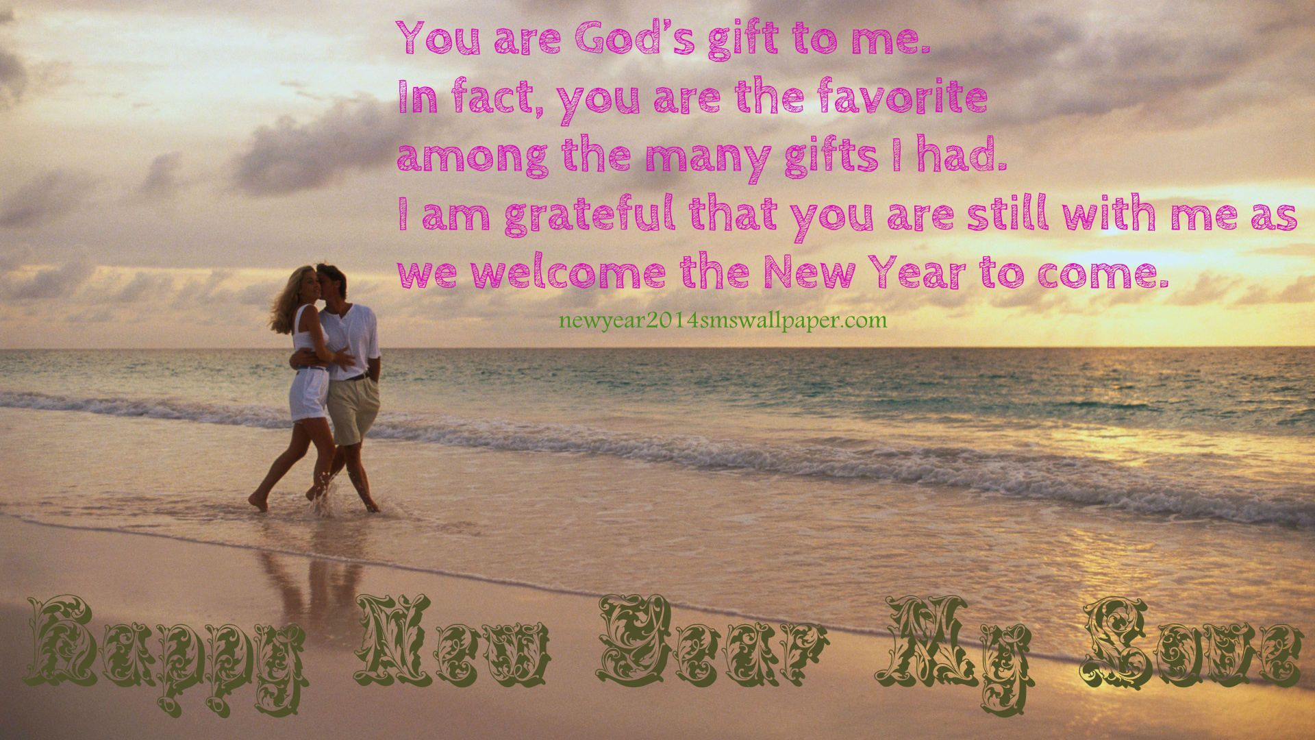 Happy New Year 2014 Romantic Wallpapers Greeting Images For