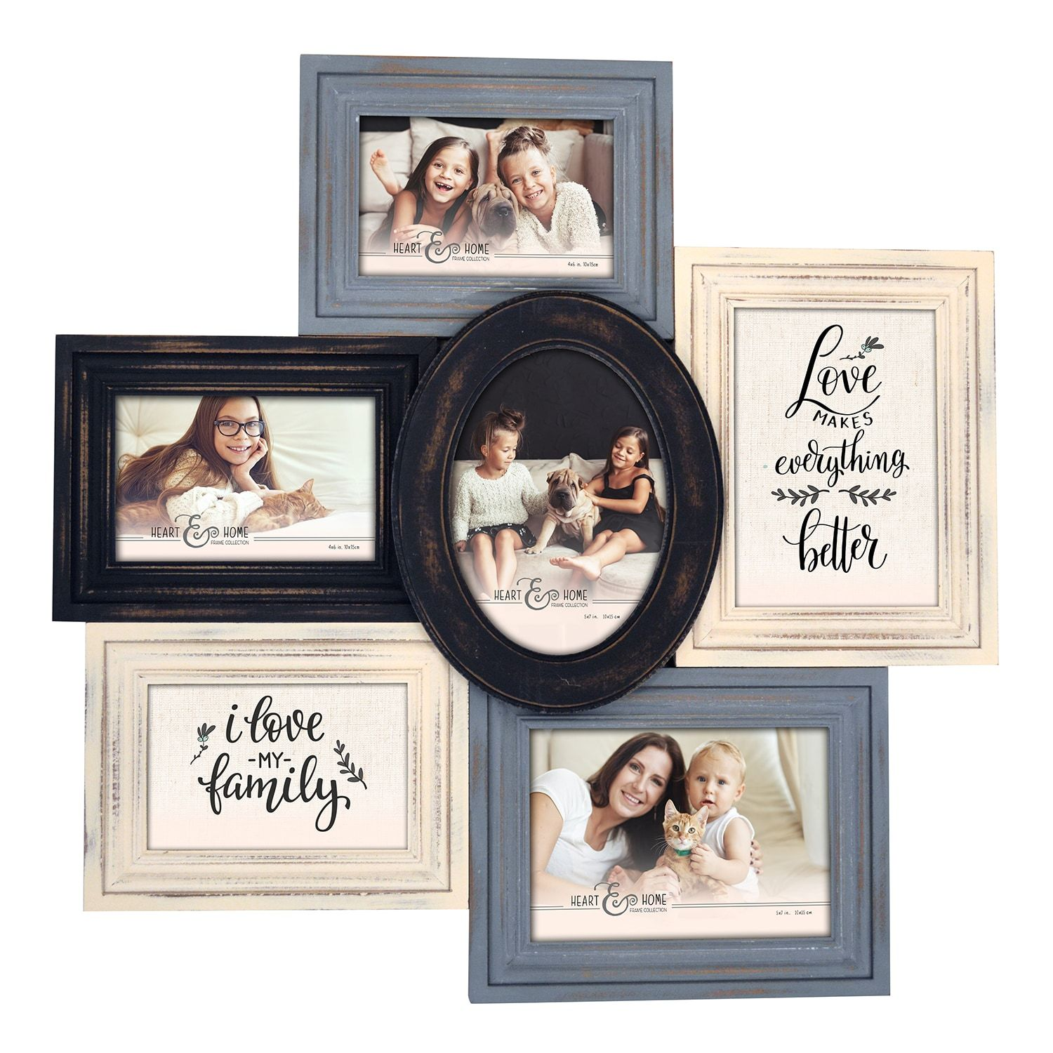 6-Opening Multi-Shape Collage Frame (59.99/29.99) | I Wish I May, I ...