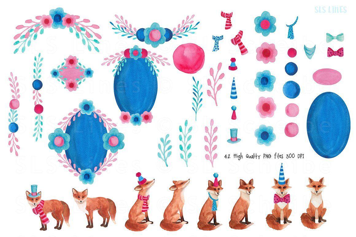 Fancy Foxes Watercolors Watercolor fox, Fox illustration