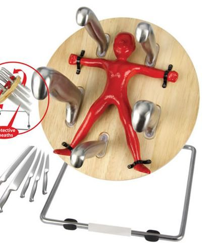 Must Have Kitchen Gadget Throwzini Knife Block Weird Kitchen