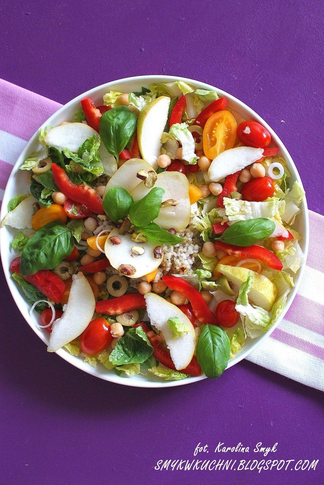 Salatka Z Gruszka I Pistacja Food Caprese Salad Caprese