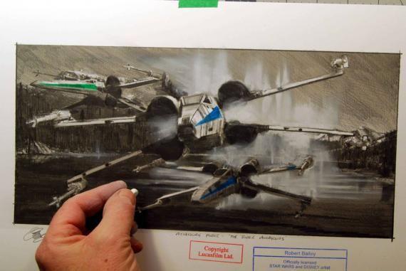 Diseño conceptual del X-Wing en Star Wars: El Despertar de la Fuerza (2015)