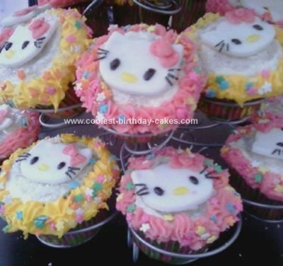 Coolest Hello Kitty Cupcakes Birthday Cake Hello kitty cupcakes