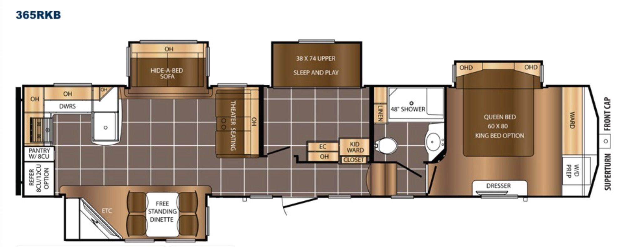Floor Plan Travel trailer floor plans, Camper flooring