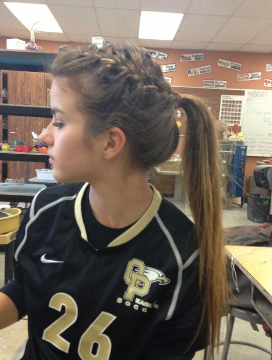 Pin By Shaden Martini On Rapunzel Volleyball Hairstyles