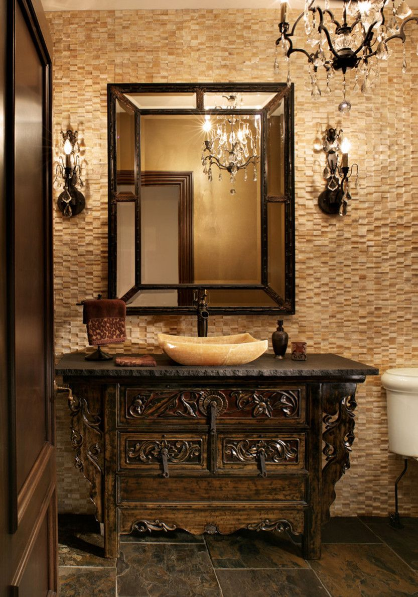 traditional powder room fabulous decor ideas in french bathroom