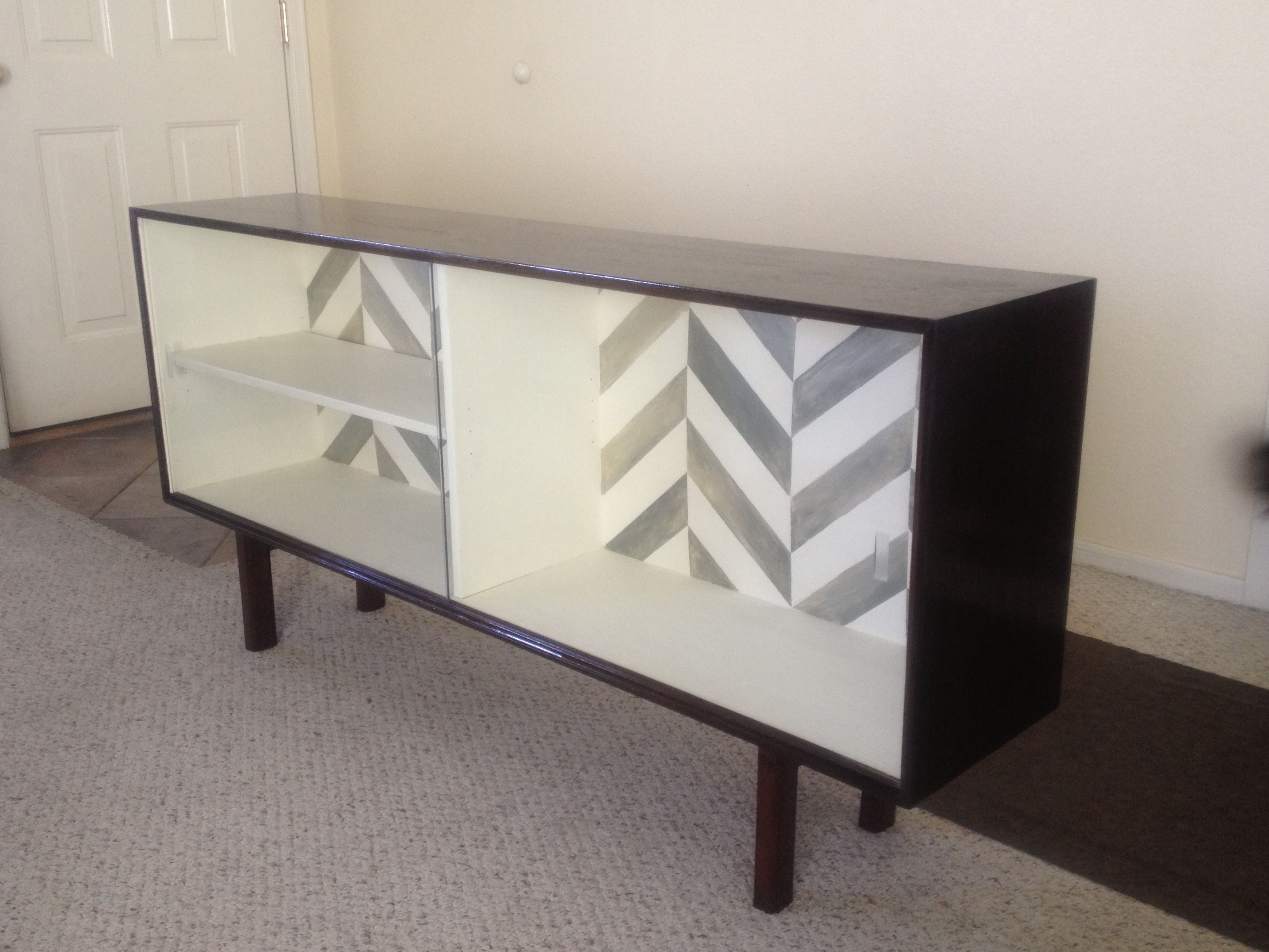 Beautifully Refurbished Mid Century Modern Furniture $350 The Back Of It  Has The Same Hand