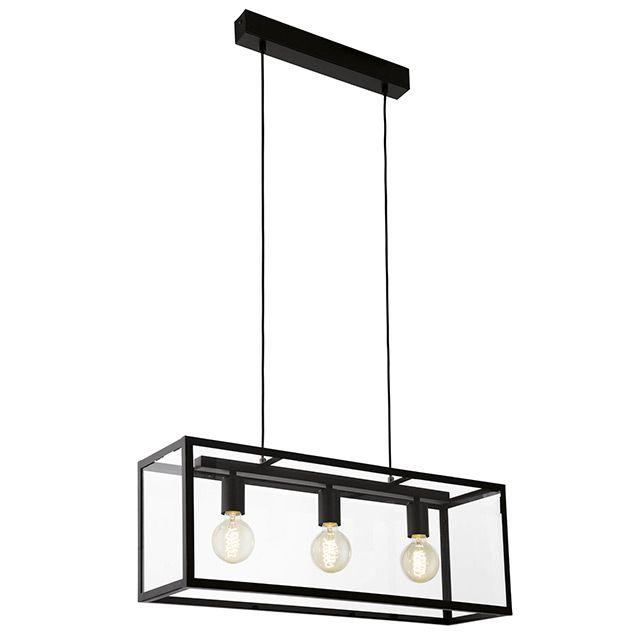 Suspension Britomartis 3 Spots Metal X2f Verre Noir E27 60w Castorama Eclairage Interieur Lampe Decoration Verre Noir