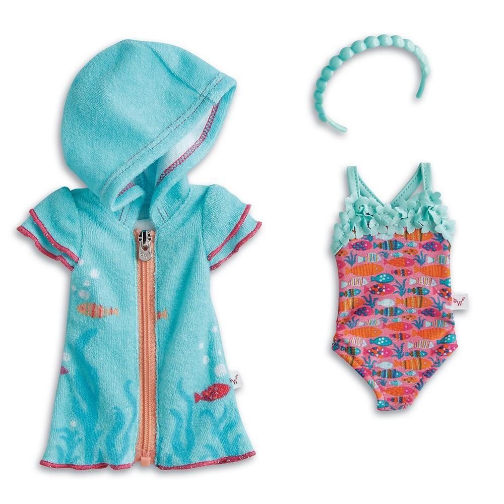American girl welliewishers fun fish swimsuit