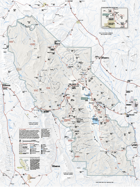 Death Valley National Park map | MAPS - Out of State | Pinterest ...