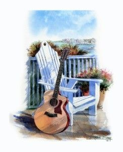 Fine Art Print Taylor 455CE 12 String Acoustic Guitar Watercolor Painting Giclee | eBay