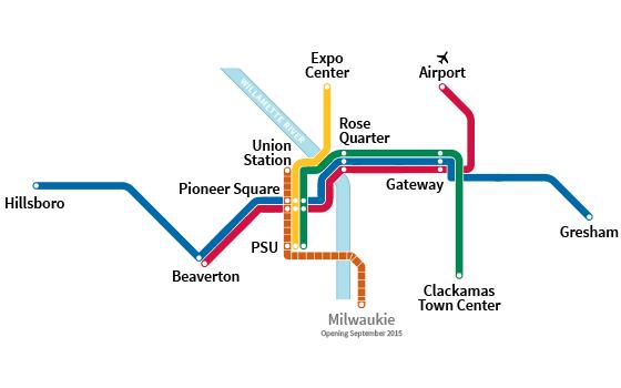 max line map portland Trimet Orange Line System Map Light Rail Portland Airport max line map portland