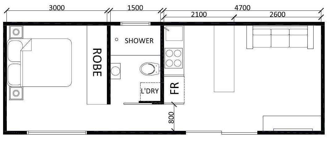 Lofty 1 Bedroom Granny Flat Designs 14 Timber Block Floor Plans Trend Home Design And Decor Apartmentfloo Small House Blueprints Floor Plan Design Granny Flat