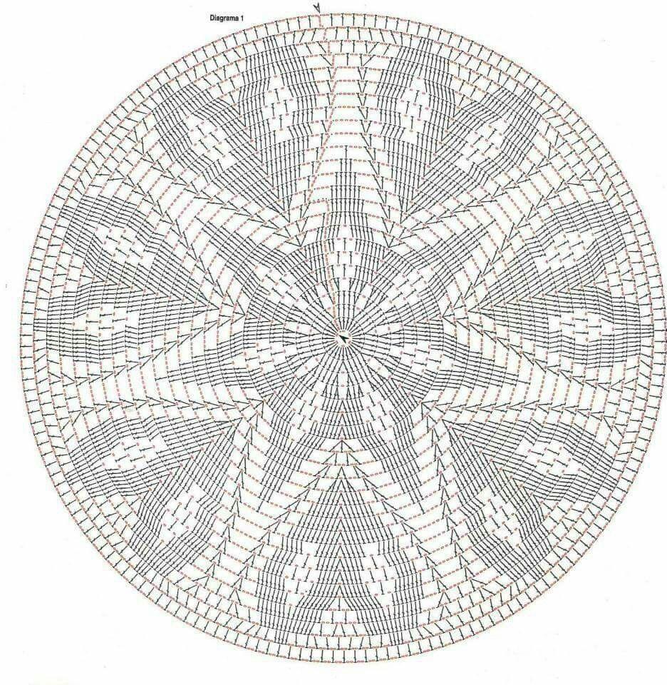 Corazon circular tapete | Crochet Doily | Crochet, Crochet Doilies y ...