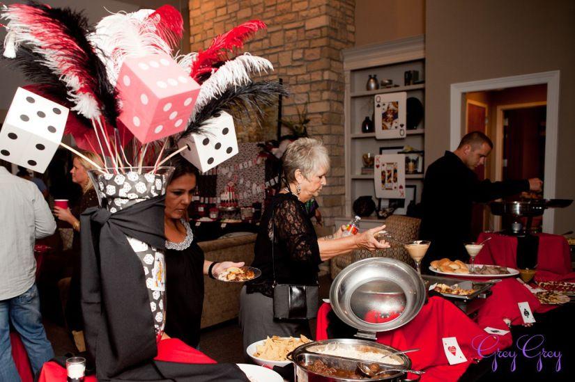 Adult 40th Las Vegas Casino Birthday Party Ideas Decorations Poker Centerpiece