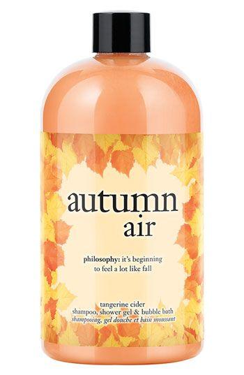 Philosophy Autumn Air Tangerine Cider Shampoo Shower Gel Bubble Bath