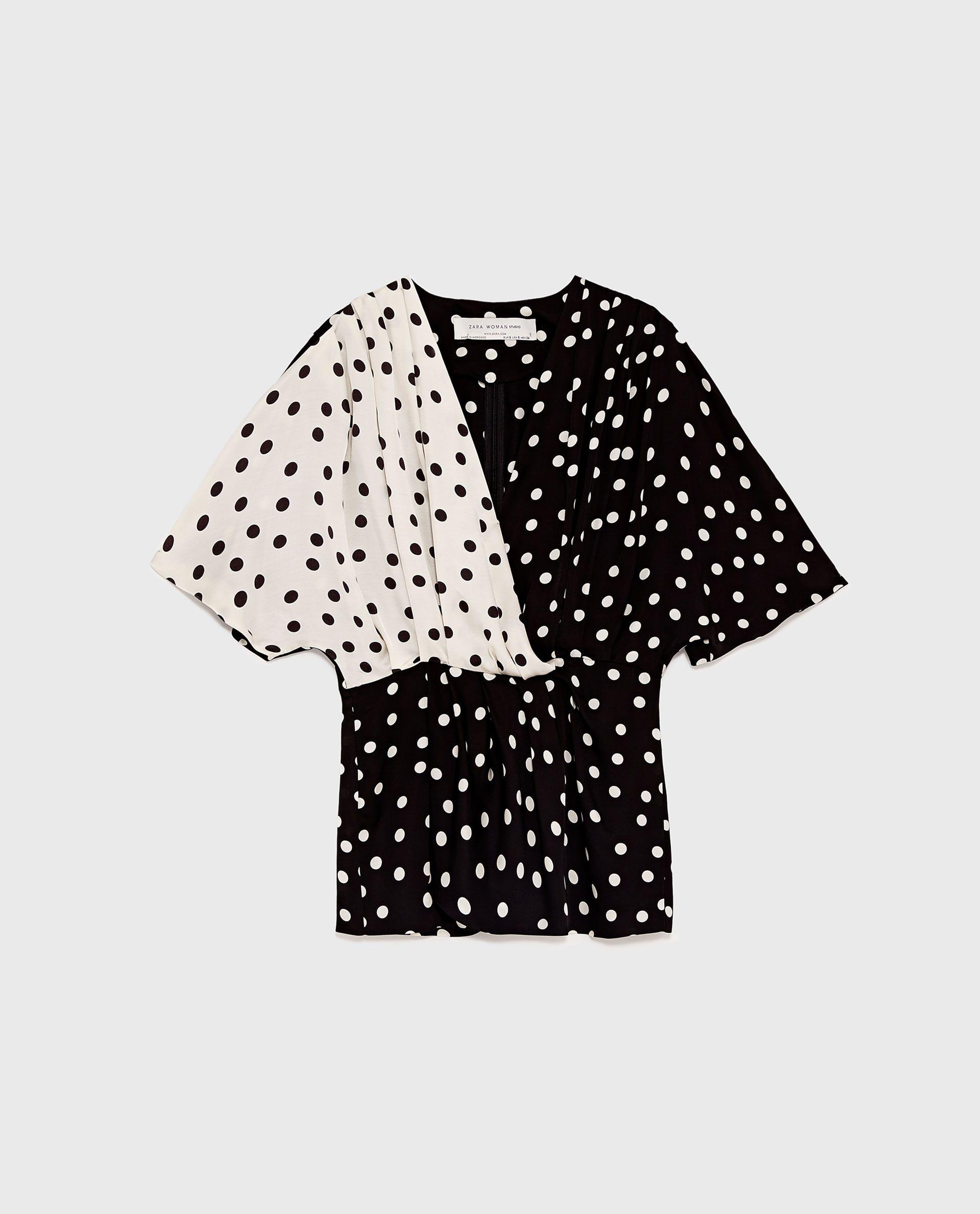 camisa puntos zara 2017