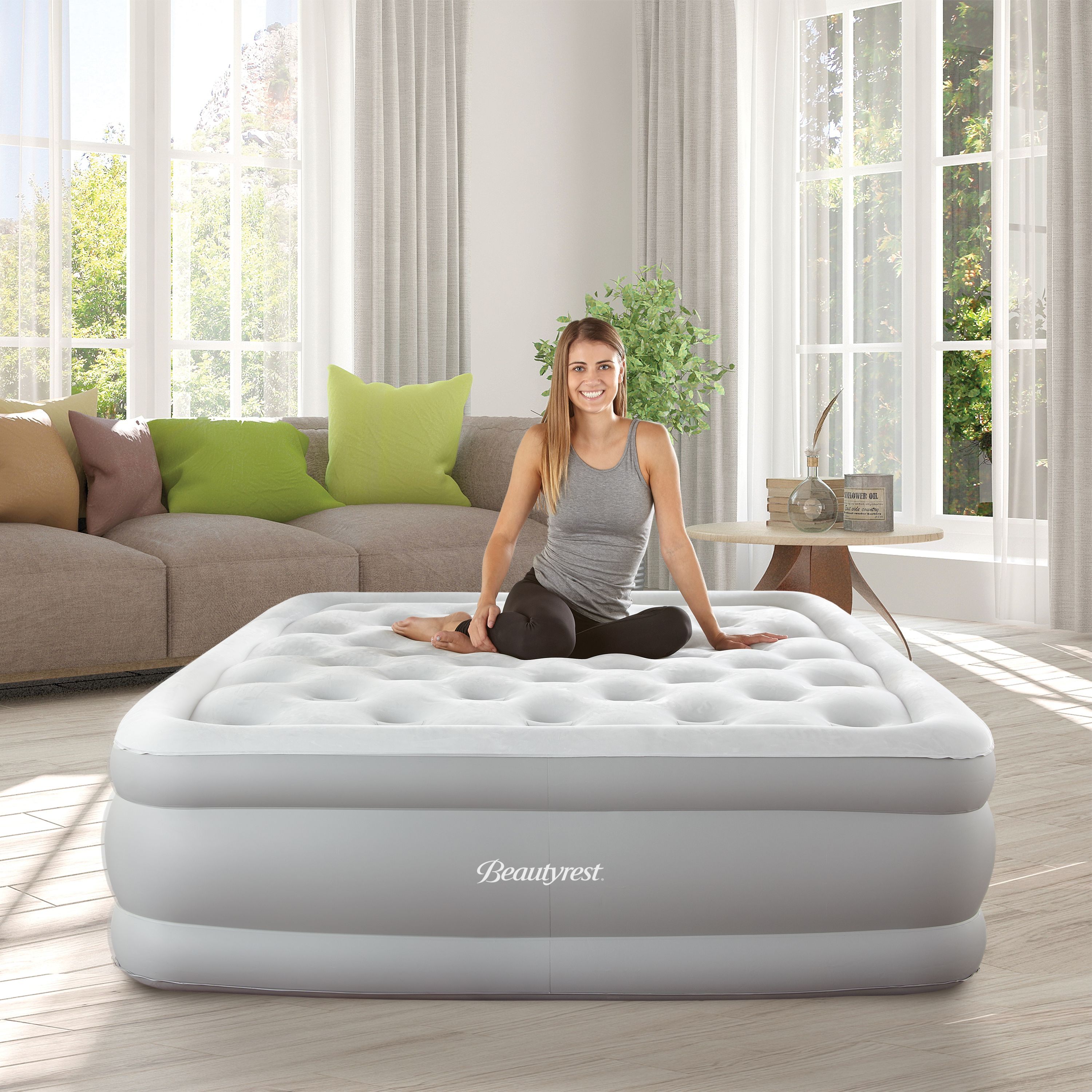 Simmons Beautyrest Sky Rise Raised Air Bed Mattress With Hands Free Express Pump Multiple Sizes Raised Air Bed Air Bed Adjustable Beds Bed Mattress
