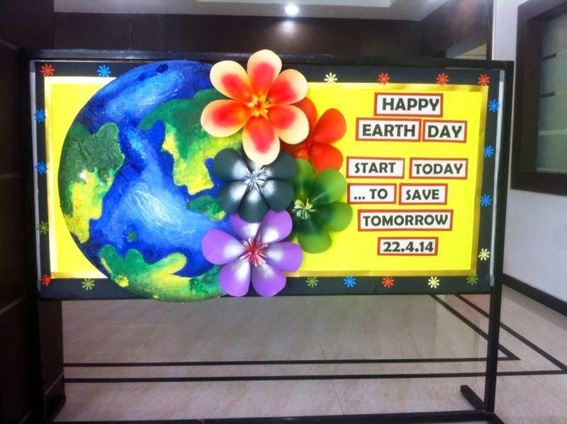 Earth day bulletin board | School board decoration, Board ...