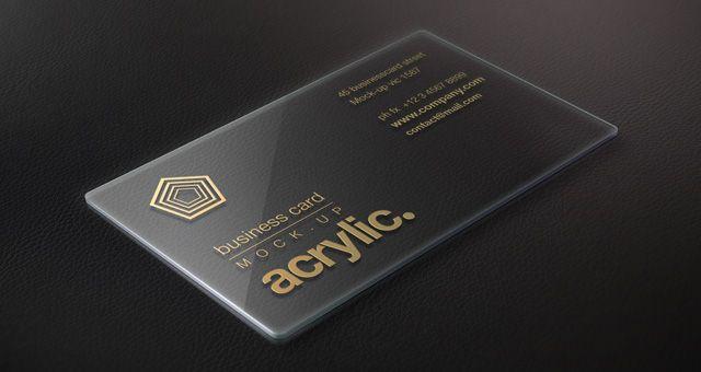 Acrylic Business Card Visitenkarten Acrylglas Karten