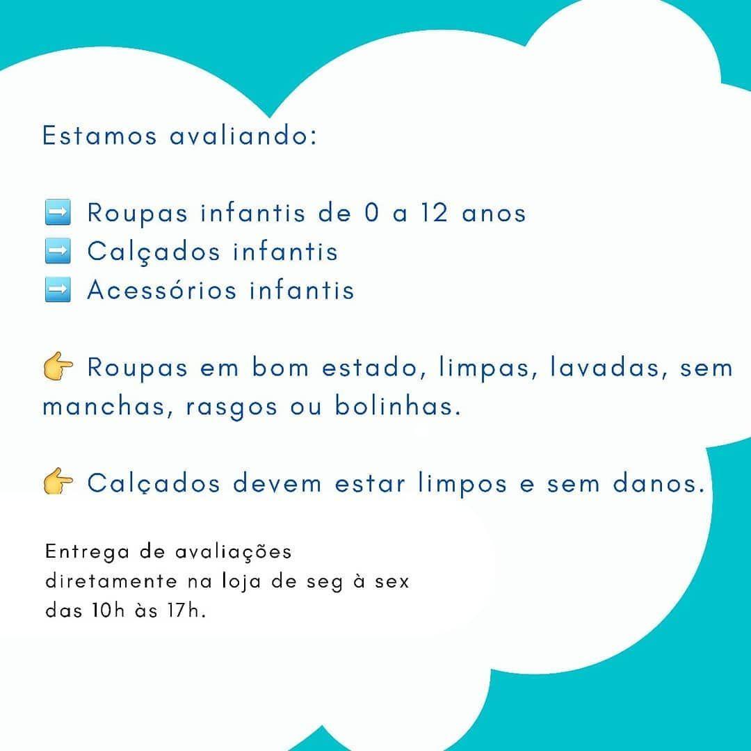 ➡️ Estamos avaliando peças infantis!  0 à 12 anos. 💖💙 As avaliações devem ser entregues diretamente na loja das 10h às 17h . 👉 Não avaliamos na hora. O prazo para avaliação é de 48hs. . . ⛳ Rua 24 de Outubro, 1557 Loja 2. Bairro Auxiliadora, Porto Alegre. . . #brecho #brechoinfantil #tuttifruttibrechoinfantil #modainfantil #consumoconsciente  #portoalegre  #brechoportoalegre  #baby #kids