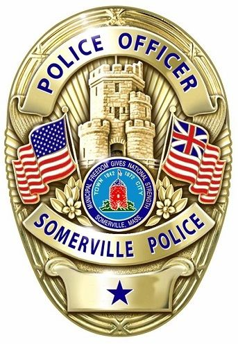 Somerville Pd Ma Police Badge Police Officer Badge Police Patches