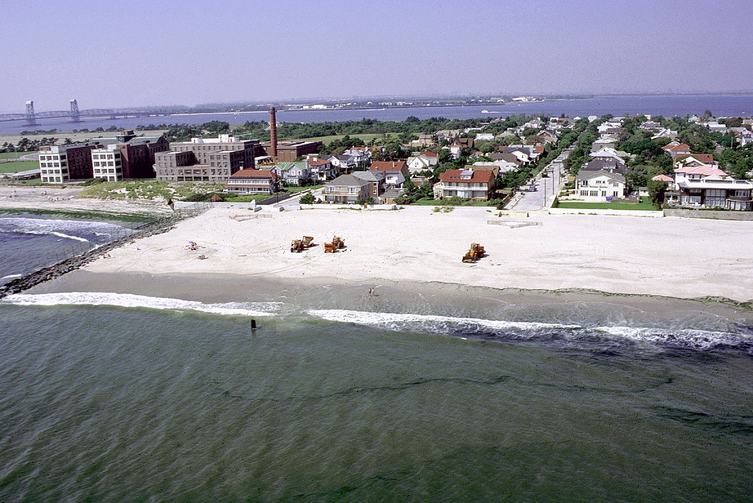 Aerial View Of Rockaway Beach A Neighborhood On The Peninsula In New York City Borough Queens Which Is Largest Urban