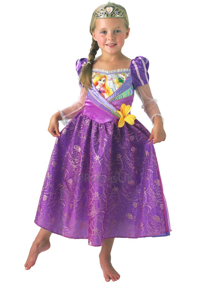 Disney Rapunzel Costume, Shimmer Dress - Children Fantasy Costumes ...