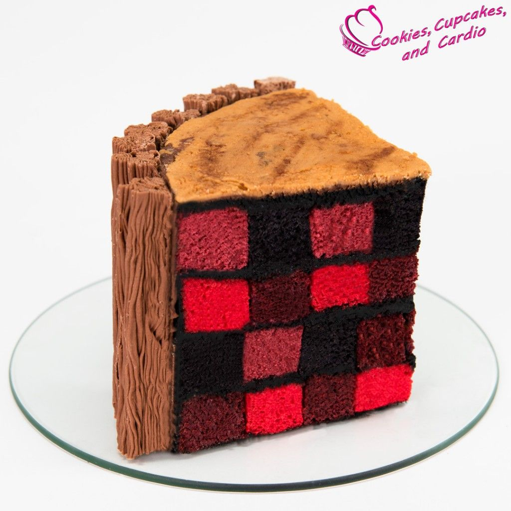 How To Make A Lumberjack Cake Checkerboard Cake Lumberjack Cake Checkered Cake