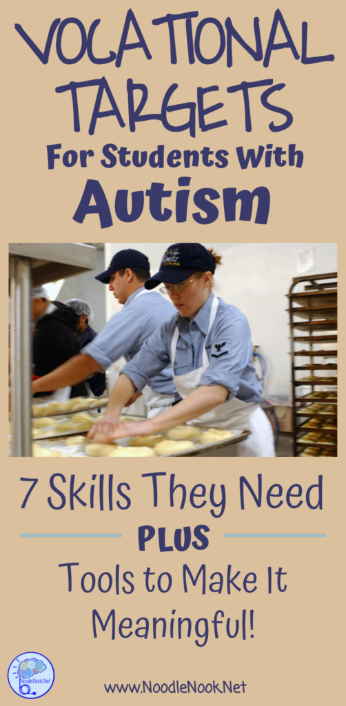 Vocational Targets for Students with Autism | NoodleNook ...