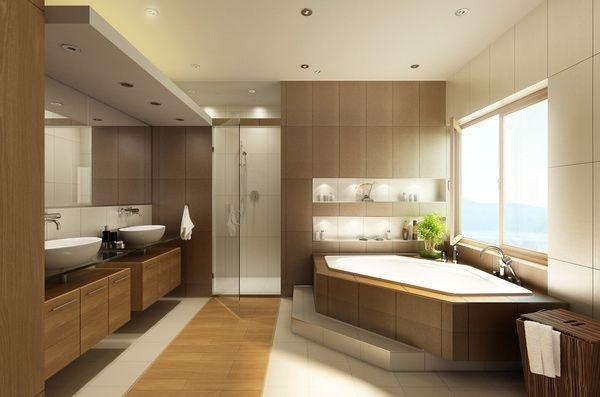 Holz Decking und Möbel, Bodenbelag gemischt Ideen rund ums Haus - modernes badezimmer design