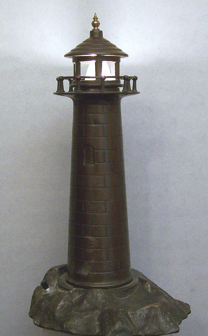 Best Bronze Lighthouse Lamp 1930 Doran Co Seattle Nautical 400 x 300