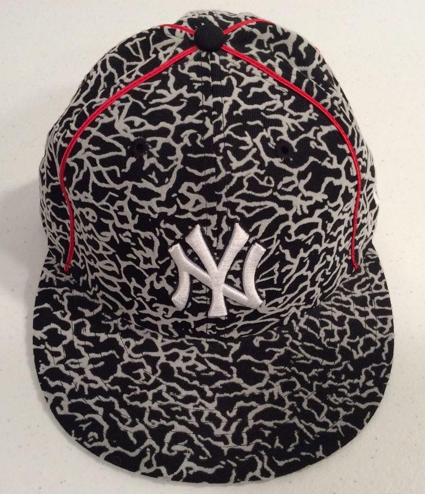 New York Yankees New Era 59Fifty Jordan Elephant Print Mens 7 Fitted Cap Hat   NewEra  NewYorkYankees a5ac52c42d6b