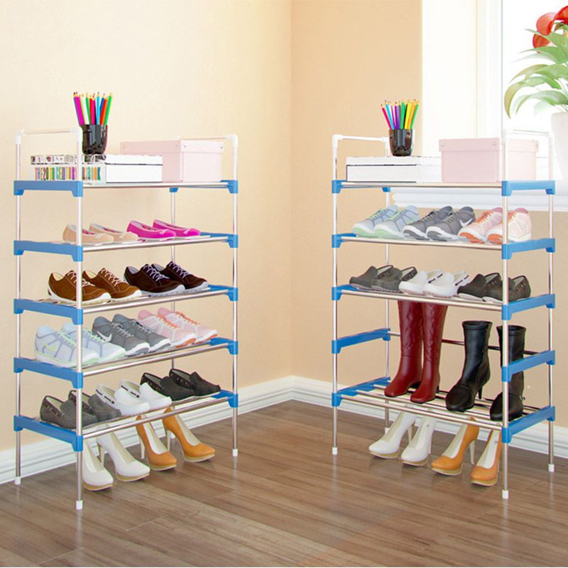Hot Sale Shoe Rack Easy Assembled Plastic Multiple Layers Shoes Shelf  Storage Organizer Stand Holder Adjustable