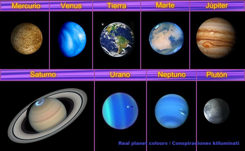 Resultado De Imagen Para Planetas Con Sus Nombres Colores De Los Planetas Imagenes De Los Planetas Remeras Tejidas A Crochet