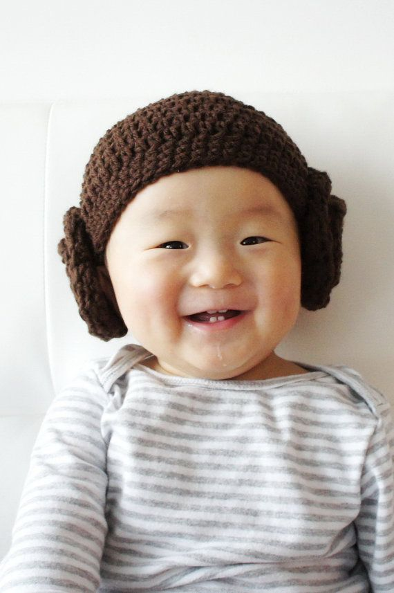 Princess Leia Hat, Star Wars Hat, Crochet Baby Hat, Baby Hat, Hair ...