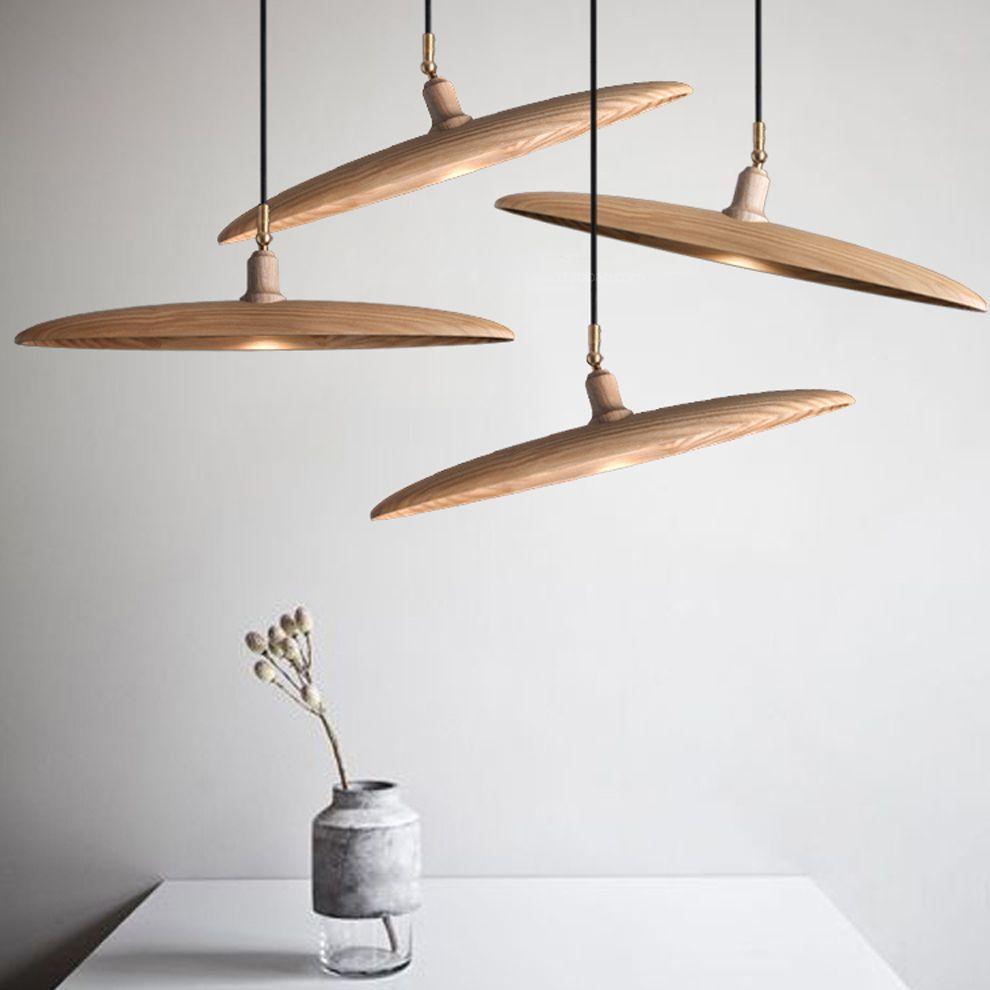 Led gu nordic wooden iron artistic led lamp led lightpendant