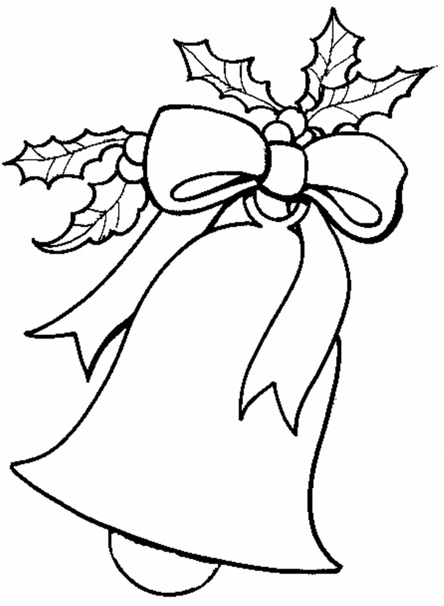 download free coloring pages for christmas bell or print free