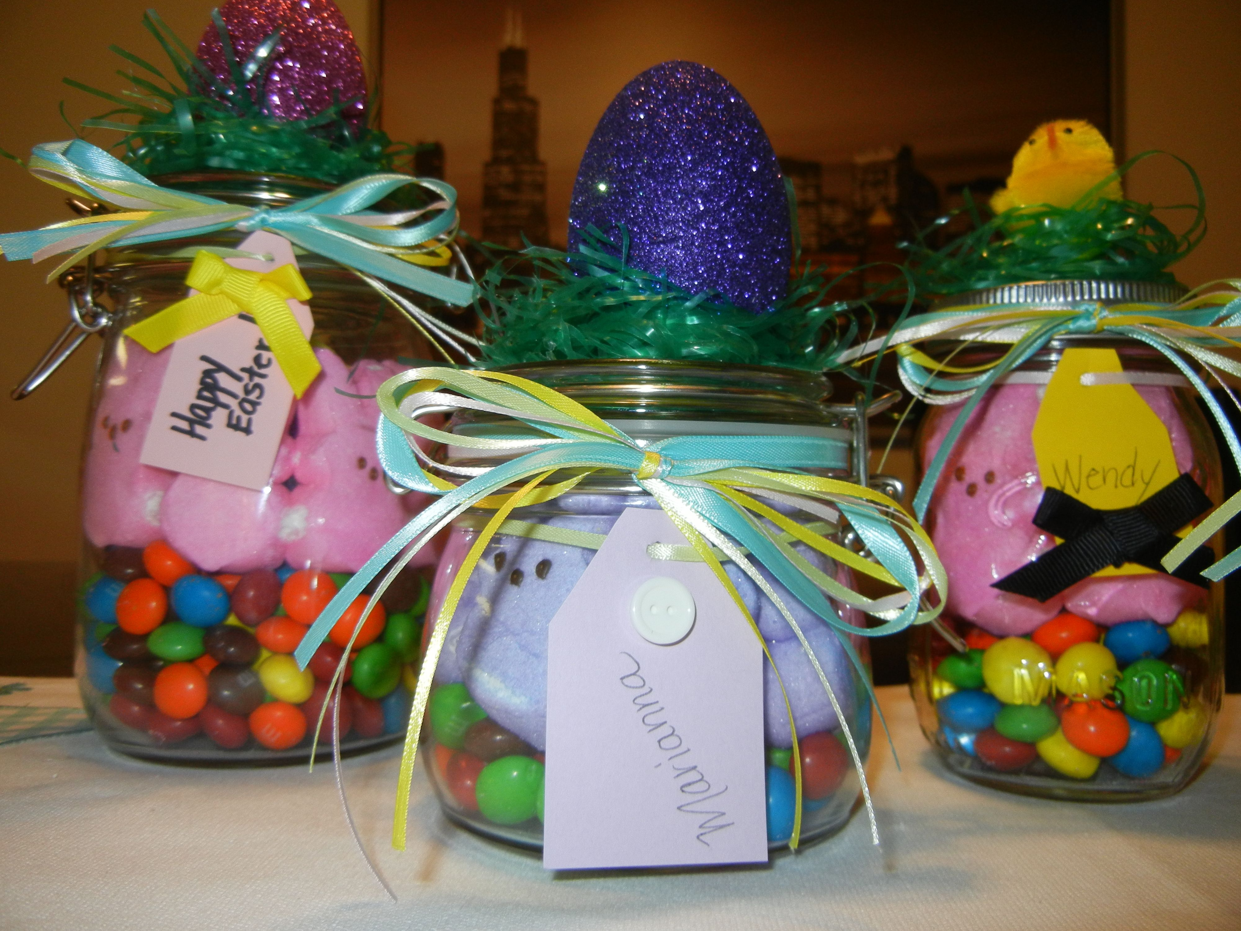 Easter mason jar gifts jar easter and gift easter mason jar gifts negle Images