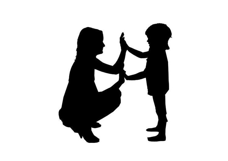 Silueta Madre E Hijo Buscar Con Google Mothers Day 1 Felíz Día