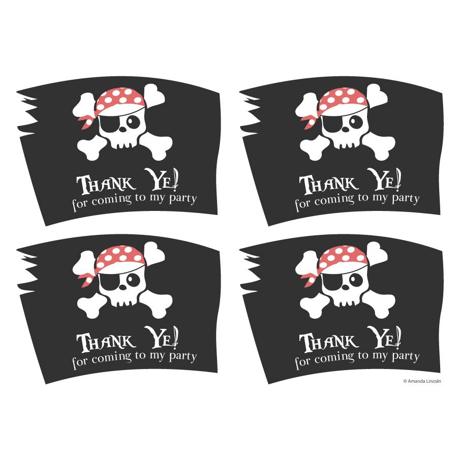Printable pirate party decorations amp supplies free templates - Digital Printable Pirate Party Bag Labels Wowthankyou Co Uk