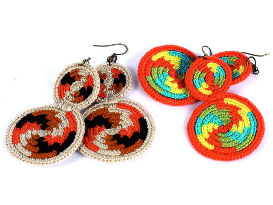 c0dd6f76ed25 Aretes tejido wayuu en Bogotá de la tienda en línea Artesanías de Colombia