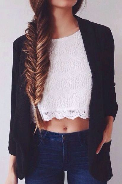 Crop Top Jeans Cornrows Fashion Fall Outfits Cute Outfits